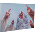 Painted Roosters Canvas Wall Decor