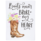 Floral Boots Canvas Wall Decor