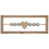 Heart Bead Wood Decor