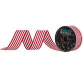 "Red & White Striped Grosgrain Ribbon - 1 1/2"""