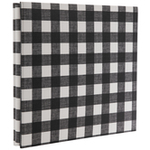 "Black & White Buffalo Check Scrapbook Album - 12"" x 12"""