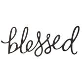 Black Glitter Blessed Sticker