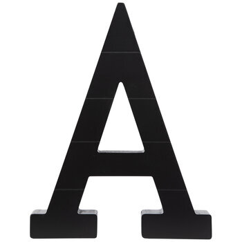 Black Letter Wood Wall Decor
