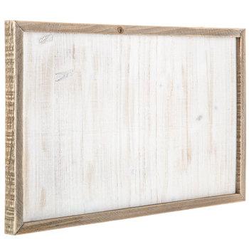 Whitewash Framed Wood Wall Decor
