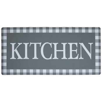 Gray Buffalo Check Kitchen Doormat