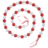 Red & White Wood Bead Garland