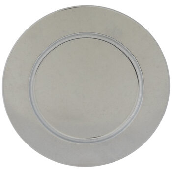 Silver Galvanized Metal Charger Plate