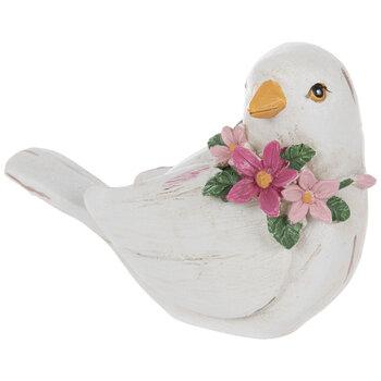 Distressed White Bird & Wreath