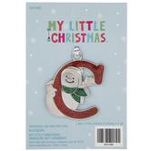Snowman Letter Ornament - C