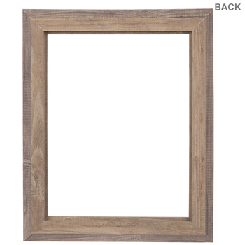 Two-Tone Stepped Wood Open Frame