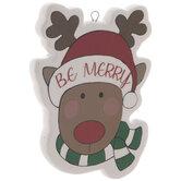 Be Merry Reindeer Ornament