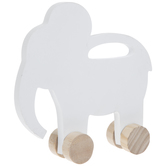 Elephant Rolling Wood Decor
