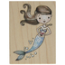 Mermaid Heart Rubber Stamp