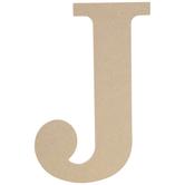 """Wood Letter J - 9 1/2"""""""