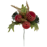 Ornament & Pine Pick