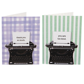Typewriter Thank You Cards