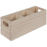 Divided Wood Storage Container