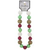 Red & Green Bubblegum Bead Necklace