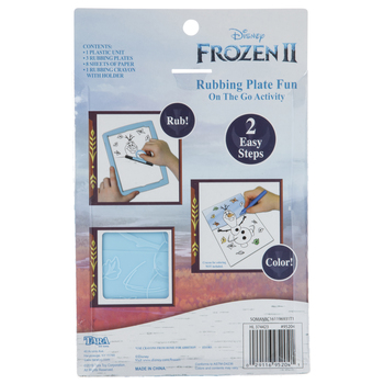 Frozen 2 Rubbing Plate Activity Kit