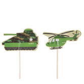 Camouflage Cupcake Toppers