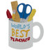 World's Best Teacher Mug Personalized Ornament