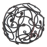 Black Iron Decorative Sphere With Open Swirls