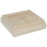 Wood Jewelry Box With Mirror