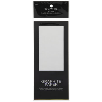 "White Graphite Paper - 9"" x 13"""