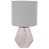 Pink Faceted Glass Lamp