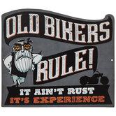 Old Bikers Rule Metal Sign