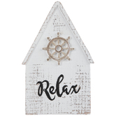Relax Ship's Wheel House Wood Decor