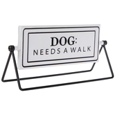 Dog Walked Rotating Metal Decor