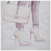 High Heels & Purse Canvas Wall Decor