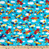 Airplanes Allover Cotton Calico Fabric