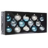 Blue & Silver Ball & Onion Ornaments