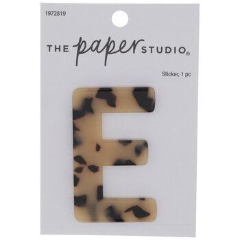 Tortoise Shell Letter Sticker - E