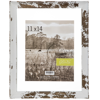 Distressed White Float Wood Wall Frame