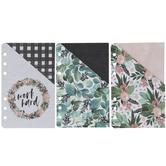 Floral Personal Planner Pocket Folders