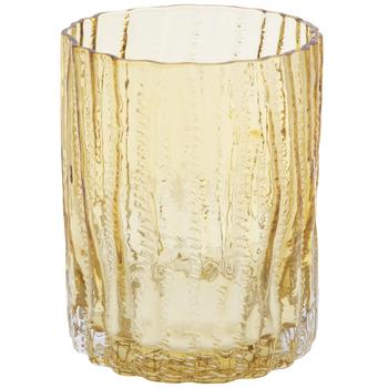 Yellow Bark Textured Glass Vase