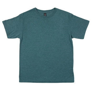 Heather Dark Green Tri-Blend Youth T-Shirt - Medium