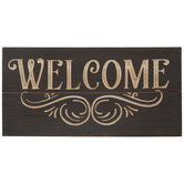 Brown Welcome Wood Wall Decor
