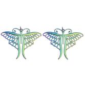 Rainbow Metal Butterfly Pendants