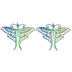 Rainbow Metal Butterfly Pendants
