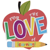 Love Of Learning Painted Wood Shape
