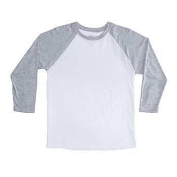 Heather Gray & White Adult Baseball Shirt - Extra Small