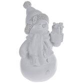 Blank Snowman Holding Presents