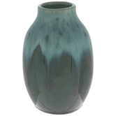 Green Drip Vase