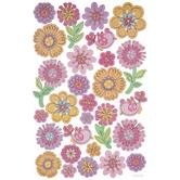 Spring Flowers & Birds Glitter Stickers