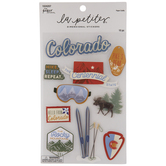 Colorado Icons 3D Stickers