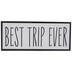 Best Trip Ever Wood Wall Decor